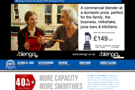 Commercial Blengo Product website